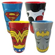DC Comics Female Heroes Molded Ceramic Pint Glass 4-Pack