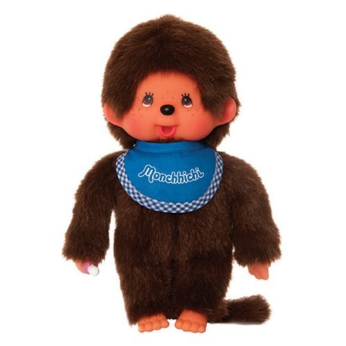 Monchhichi Boy Blue Bib Plush