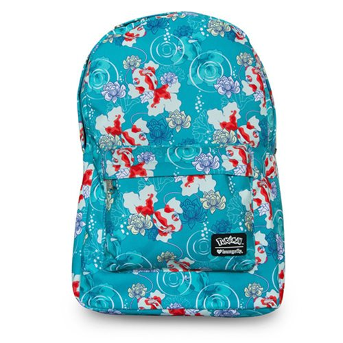 Pokemon Goldeen Lotus Flower Print Backpack