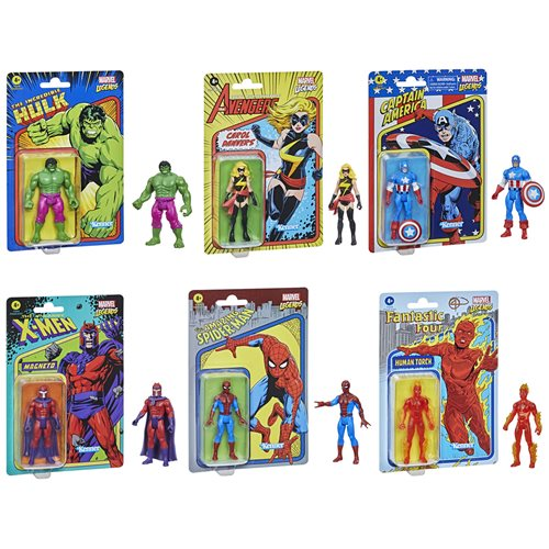 Marvel Legends Retro 375 Collection 3 3/4-Inch Action Figures Wave 1 Case of 8