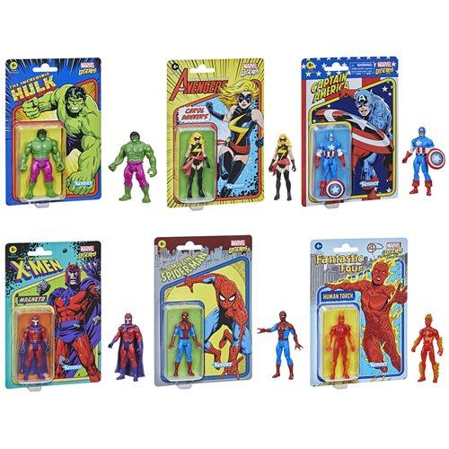 Marvel Legends Retro Collection Action Figures Wave 1 Case