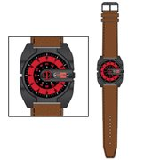 Deadpool Roto Analog Watch with Brown Leather Strap