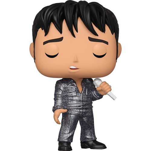 Elvis Presley 1968 Comeback Special Diamond Glitter Pop! Vinyl Figure - Entertainment Earth Exclusive