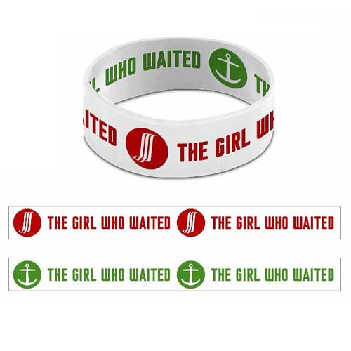 Doctor Who The Girl Who Waited Reversible White Rubber Wristband