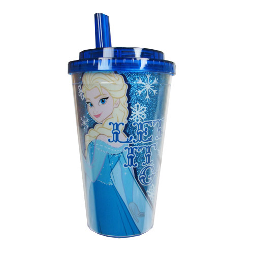 Disney Frozen Elsa Let it Go 16 oz. Flip Straw Travel Cup