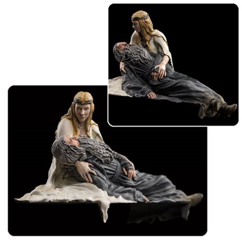 The Hobbit Gandalf and Galadriel Dol Guldur 1:30 Scale Statue
