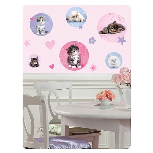 Kitty Cat Dots Peel and Stick Wall Decals