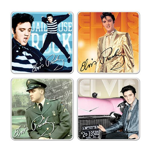 Elvis Presley Ceramic Coaster 4-Pack