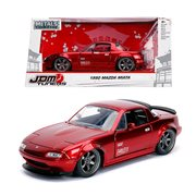 JDM Tuners 1990 Mazda Miata Candy Red 1:24 Scale Die-Cast Metal Vehicle