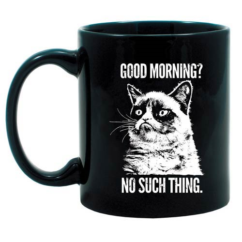 Grumpy Cat Good Morning? No Such Thing Mug