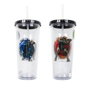 Halo Red and Blue Team Plastic Travel Cup