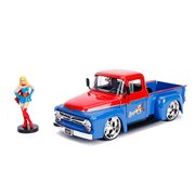 DC Bombshells Supergirl 1956 Ford F100 1:24 Scale Die-Cast Metal Vehicle