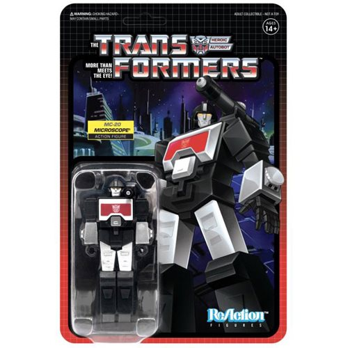 Transformers Microchange MC-20 Black Perceptor 3 3/4-Inch ReAction Figure