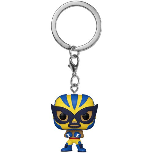 Marvel Luchadores El Animal Indestructible Wolverine Pocket Pop! Key Chain