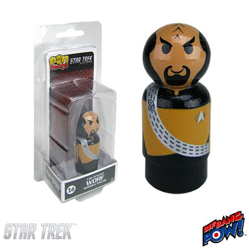 Star Trek: The Next Generation Worf Pin Mate Wooden Figure