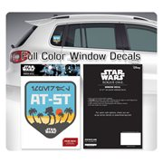 Star Wars AT-ST on Scarif Badge Window Decal