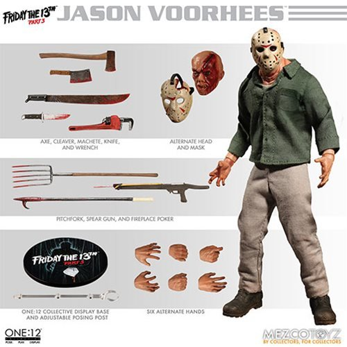 Friday the 13th Part 3 Jason Voorhees One:12 Collective Action Figure - ReRun