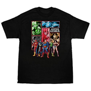 Justice League Panels T-Shirt