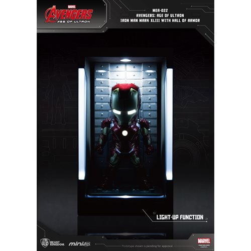 Avengers: Age of Ultron Iron Man XLIII MEA-022 Figure with Hall of Armor Display