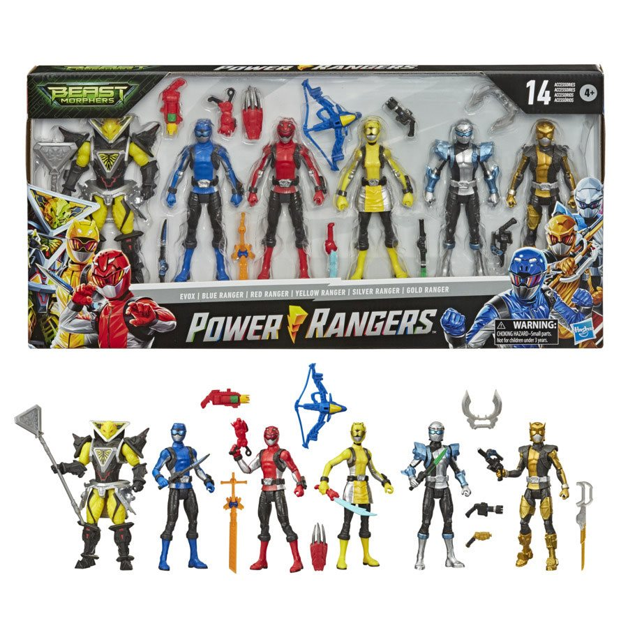 power rangers beast morphers action figure multipack power rangers beast morphers action figure multipack