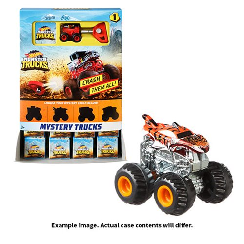 Hot Wheels Monster Trucks Mystery Trucks Mix 2 Display Case