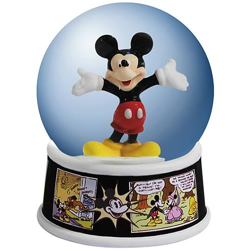 Mickey Mouse Comic Strip Water Globe