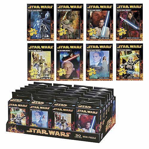 Star Wars Mini Puzzle Assortment 50 Pieces Entertainment Earth