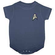 Star Trek Science Uniform Onesie