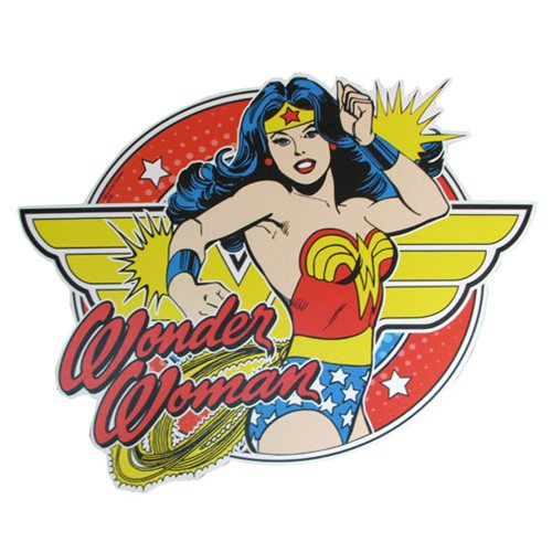 Wonder Woman Bangles Die-Cut Wood Wall Art