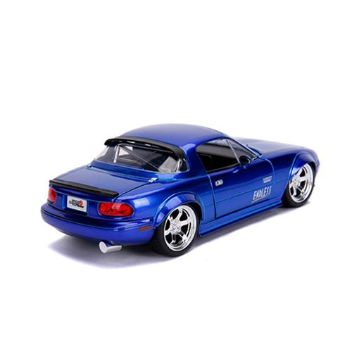 JDM Tuners 1990 Mazda Miata Candy Blue 1:24 Scale Die-Cast Metal Vehicle
