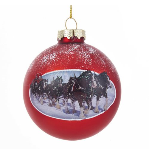 Budweiser Clydesdale 3 1/2-Inch Ball Ornament