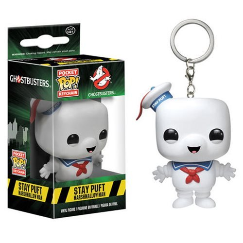Ghostbusters Stay Puft Marshmallow Man Pocket Pop! Key Chain