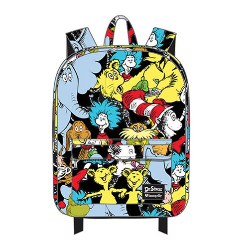 Dr. Seuss Large Character Print Nylon Backpack