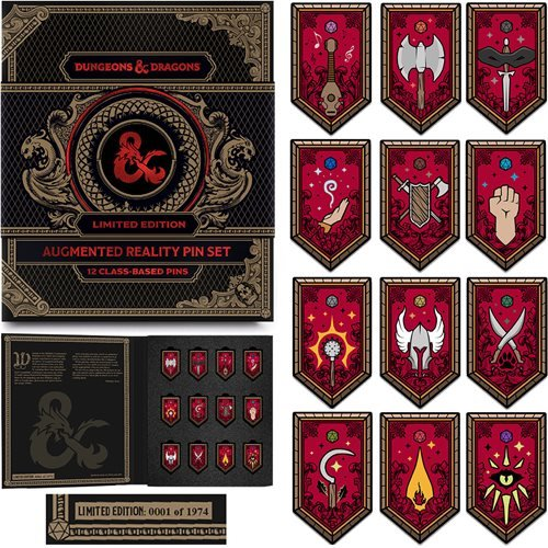Dungeons & Dragons Class Augmented Reality Pin Set of 12
