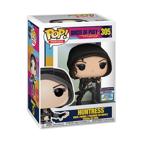 Birds of Prey Huntress Pop! Vinyl Figure with Collectible Card - Entertainment Earth Exclusive