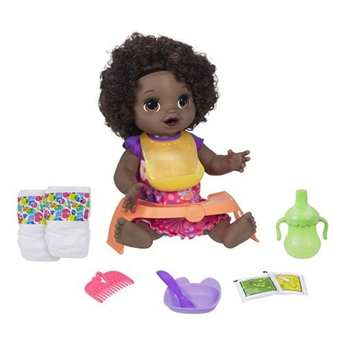 Baby Alive Happy Hungry Baby Black Curly Hair Doll