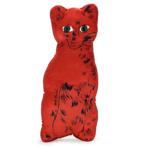 Andy Warhol Red Cat 18-Inch Cat Plush