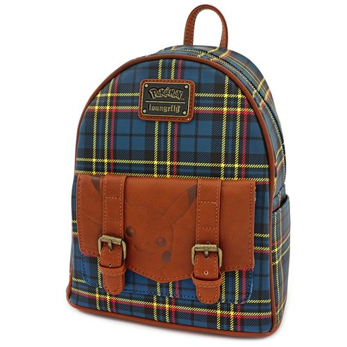 Pokemon Pikachu Plaid Mini Backpack
