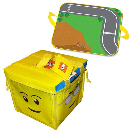 LEGO Head Zipbin Toy Tote and Playmat Carry Case