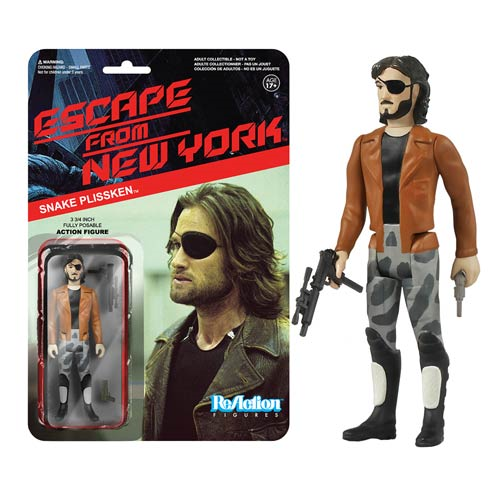 Escape from New York Snake Plissken with Jacket ReAction 3 3/4-Inch Retro Action Figure