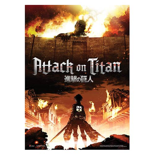 Attack on Titan Key Art Wall Scroll