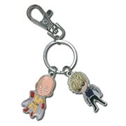 One-Punch Man Saitama and Genos Key Chain
