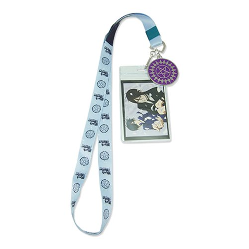 Black Butler Sebastian and Ciel Petal Lanyard Key Chain