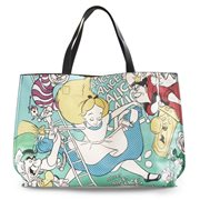 Alice in Wonderland Alice and Queen of Hearts faux-leather Tote Purse