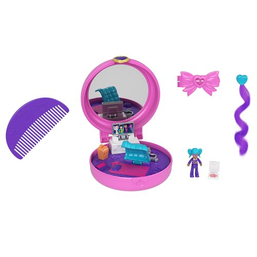 Polly Pocket Clip and Comb Compact Assortment Case of 5