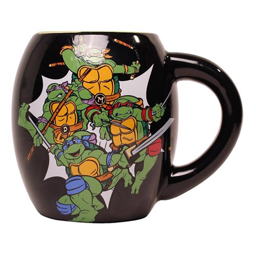 Teenage Mutant Ninja Turtles Black 18 oz. Ceramic Oval Mug