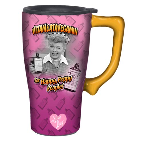 I Love Lucy Vitameatavegamin Travel Mug with Handle