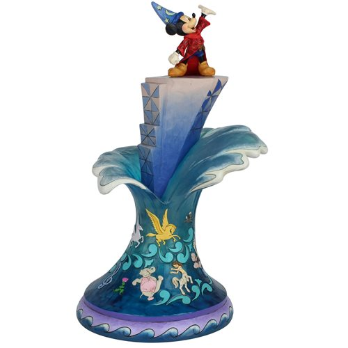 Disney Traditions Sorcerer Mickey Mouse Masterpiece Statue by Jim Shore