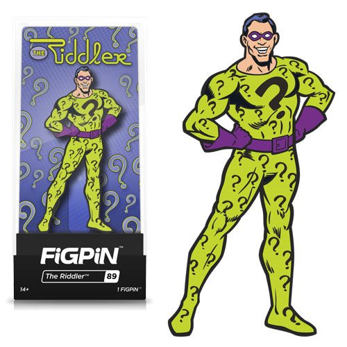 Batman Classic Comics The Riddler FiGPiN Enamel Pin