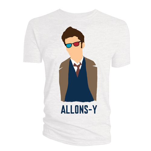 Doctor Who 10th Doctor Allons-y Vector T-Shirt